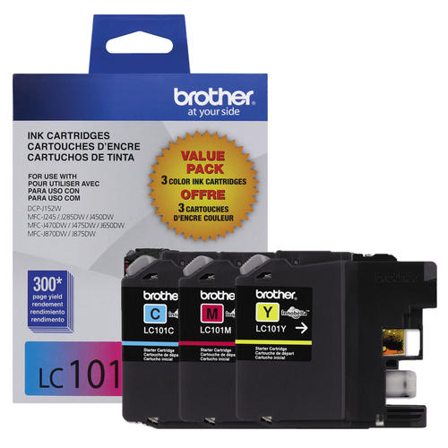 Brand New Original Brother LC1013PKS LC-1013PKS Colour Ink Cartridge Combo C/M/Y DCP-J152W