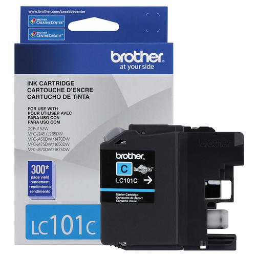 Brand New Original Brother LC101 LC-101C Cyan Ink Cartridge