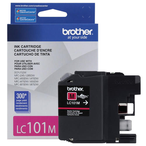 Brand New Original Brother LC101 LC-101M Magenta Ink Cartridge
