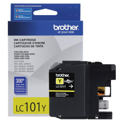 Brand New Original Brother LC101 LC-101Y Yellow Ink Cartridge