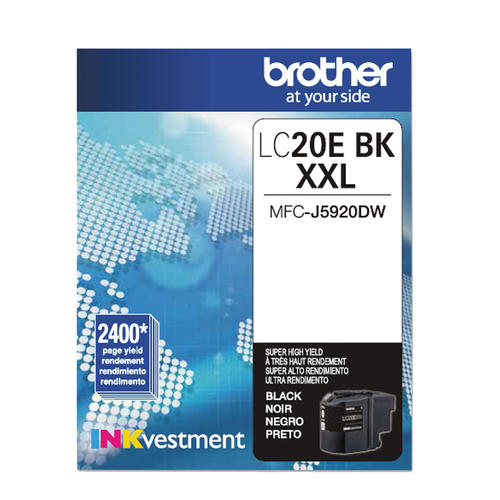 Brand New Original Brother LC-20E LC20EBK Black Extra High Yield Ink Cartridge MFC-J5920DW