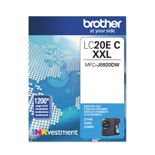 Brand New Original Brother LC-20E LC20EC Cyan Extra High Yield Ink Cartridge MFC-J5920DW