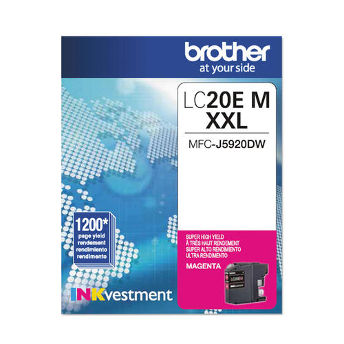 Brand New Original Brother LC-20E LC20EM Magenta Extra High Yield Ink Cartridge MFC-J5920DW