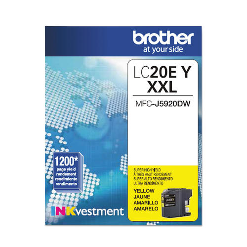 Brand New Original Brother LC-20E LC20EY Yellow Extra High Yield Ink Cartridge MFC-J5920DW