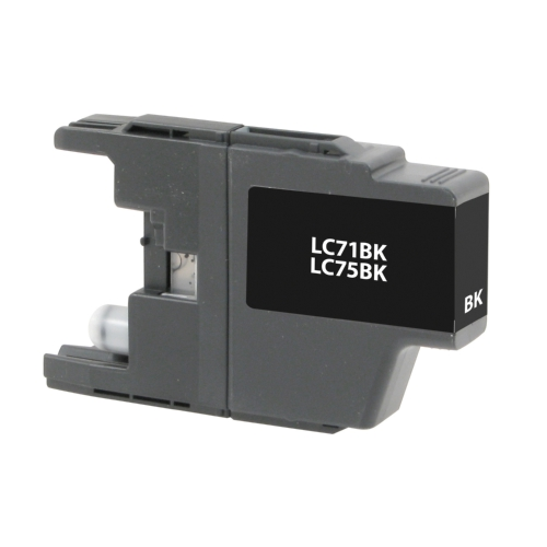 Brother LC75/LC71 LC75BK LC71BK Black High Yield Inkjet Cartridge MFC-J280W - MFC-J835DW