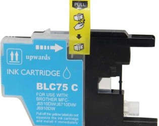Brother LC75/LC71 LC75C LC71C Cyan High Yield Inkjet Cartridge MFC-J280W - MFC-J835DW