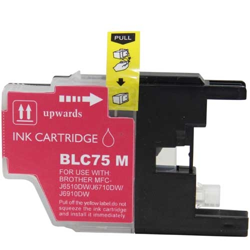 Brother LC75/LC71 LC75M LC71M Magenta High Yield Inkjet Cartridge MFC-J280W - MFC-J835DW