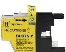 Brother LC75/LC71 LC75Y LC71Y Yellow High Yield Inkjet Cartridge MFC-J280W - MFC-J835DW