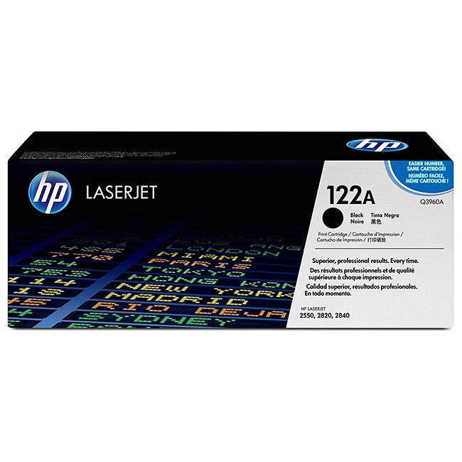 Brand New Original HP 122A Q3960A Black Toner Cartridge Color LaserJet 2550, 2820, 2840