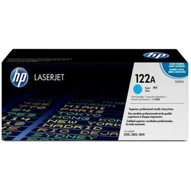 Brand New Original HP 122A Q3961A Cyan Toner Cartridge Color LaserJet 2550, 2820, 2840
