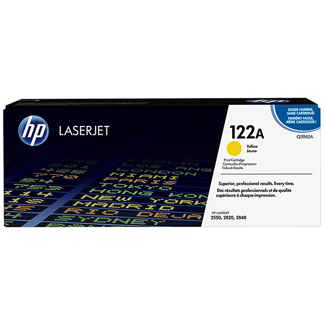 Brand New Original HP 122A Q3963A Magenta Toner Cartridge Color LaserJet 2550, 2820, 2840