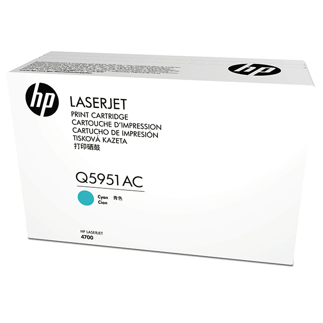 Brand New Original HP 643A Q5951AC Cyan Contract Toner Cartridge LaserJet 4700, 4700PH Plus