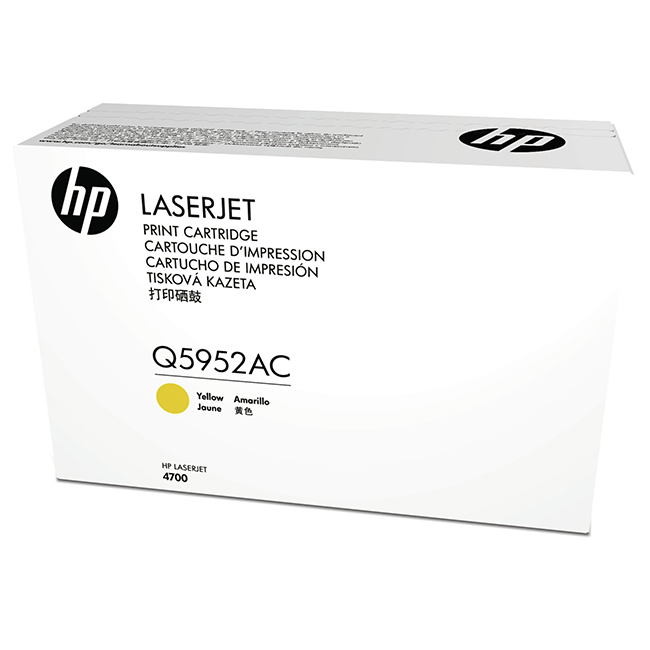 Brand New Original HP 643A Q5952AC Yellow Contract Toner Cartridge LaserJet 4700, 4700PH Plus