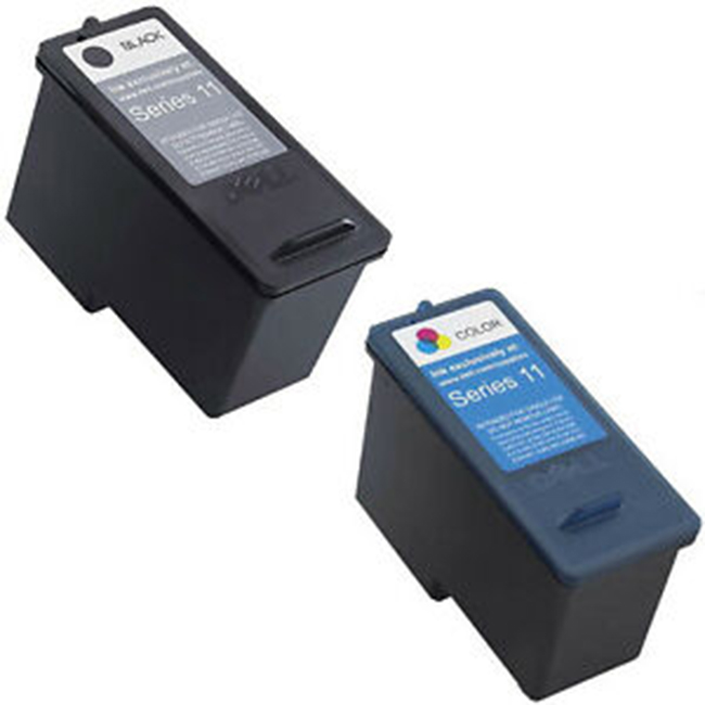 2 Pack Dell Series 11 CN594 Black CN596 Tri-Colour V505 V505w 948 Remanufactured Ink Cartridges