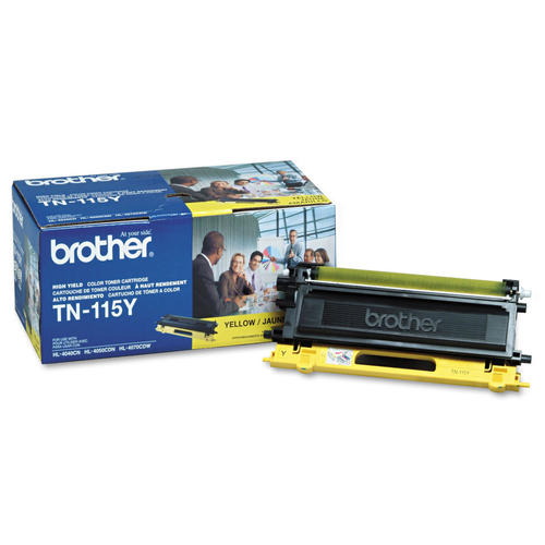 Brand New Original Brother TN115 TN-115Y Yellow Laser Toner Cartridge DCP-9040