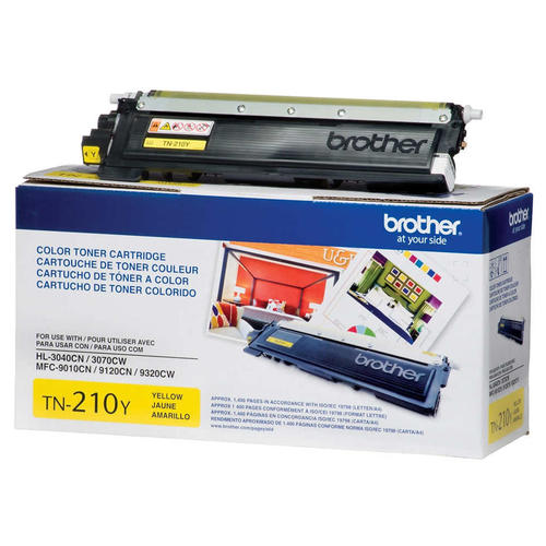 Brand New Original Brother TN210 TN-210Y Yellow Laser Toner Cartridge