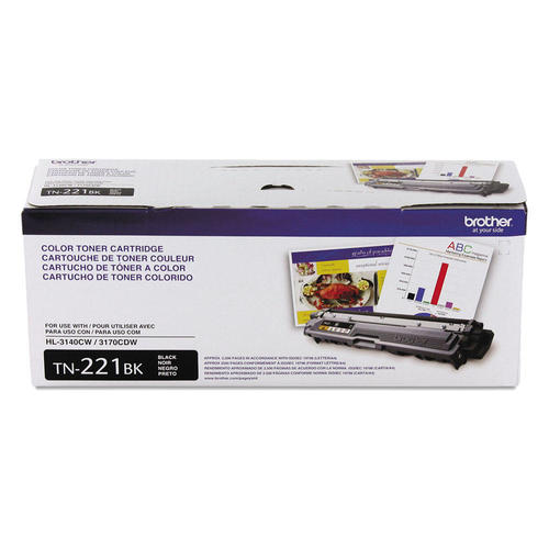 Brand New Original Brother TN221 TN-221BK Black Laser Toner Cartridge