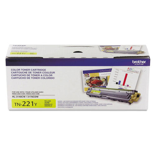Brand New Original Brother TN221 TN-221Y Yellow Laser Toner Cartridge