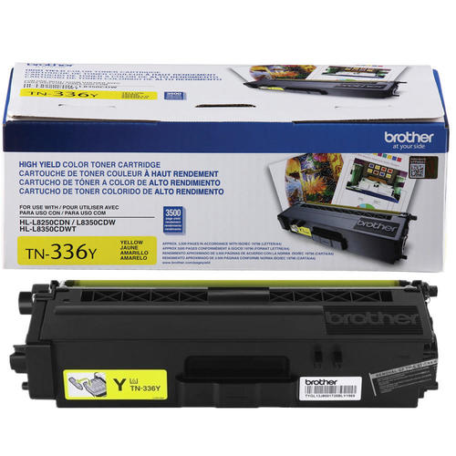 Brand New Original Brother TN336 TN-336Y Yellow High Yield Laser Toner Cartridge