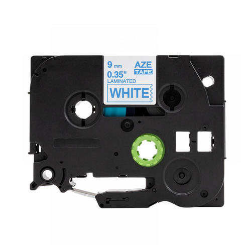 Brother TZe-223 Laminated Label Tape, 9 mm (0.35''), Blue on White, Compatible