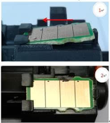 How to replace the chip into the TN760 no chip toner?