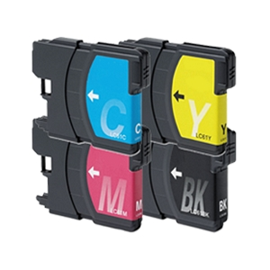 4 Pack Brother LC61 DCP Series and MFC Series Inkjet Cartridges