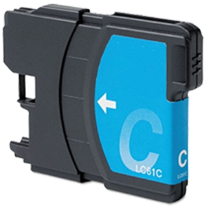 Brother LC61 LC61C LC-61C Cyan Inkjet Cartridge DCP Series and MFC Series