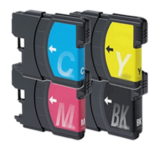 4 Pack Brother LC65 MFC-5890CN, MFC-5895CW, MFC-6490CW, MFC-6890 Inkjet Cartridges