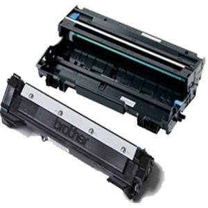 2 Pack Brother TN1030 DR1030 Black Laser Toner Cartridge and Drum Unit
