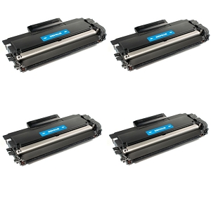 4 Pack Brother TN450 TN-450 Black High Yield Laser Toner Cartridge