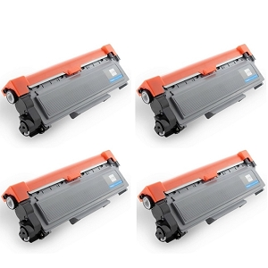 4 Pack Brother TN660 TN-660 Black Laser Toner Cartridge
