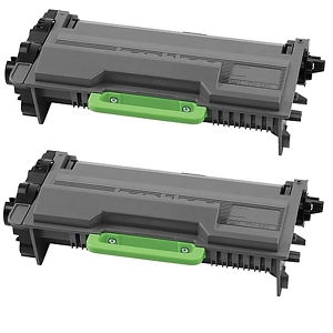 2 Pack Brother TN850 TN-850 Black High Yield Laser Toner Cartridge
