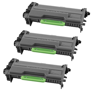 3 Pack Brother TN850 TN-850 Black High Yield Laser Toner Cartridge