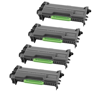 4 Pack Brother TN850 TN-850 Black High Yield Laser Toner Cartridge