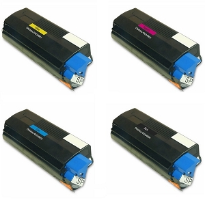 4 Pack Okidata Type C6 C3100, C3200, C3200n Compatible Toner Cartridges