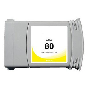 HP (HP 80XL) C4848A Yellow High Yield Inkjet Cartridge DesignJet 1050, 1055