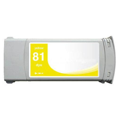 HP 81 C4933A Yellow Remanufactured Inkjet Cartridge DesignJet 5000, 5000 Dye, DesignJet 5500, 5500 Dye