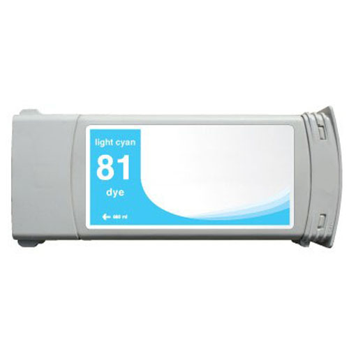 HP 81 C4934A Light Cyan Remanufactured Inkjet Cartridge DesignJet 5000, 5000 Dye, DesignJet 5500, 5500 Dye