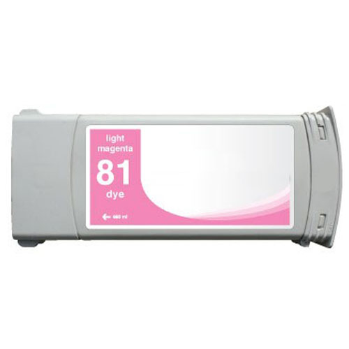 HP 81 C4935A Light Magenta Remanufactured Inkjet Cartridge DesignJet 5000, 5000 Dye, DesignJet 5500, 5500 Dye