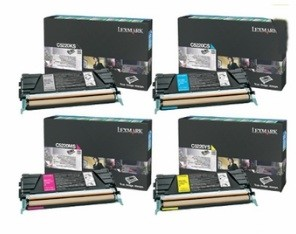 4 Pack Brand New Original Lexmark C5240 High Yield Return Program Toner Cartridge C524, C532, C534