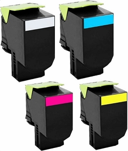 4 Pack Lexmark C544X2 KG/CG/MG/YG C544, X544 Extra High Yield Laser Toner Cartridges