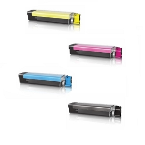 4 Pack Okidata C6000, C6050 High Yield Toner Cartridges