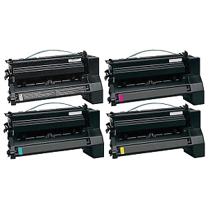 4 Pack Lexmark C780H2 C780, C782 Compatible High Yield Print Cartridges