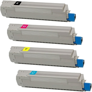 4 Pack Okidata  C8800 Compatible Toner Cartridges