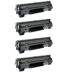 4 Pack Canon 128 3500B001AA CRG-128 Black Laser Toner Cartridge