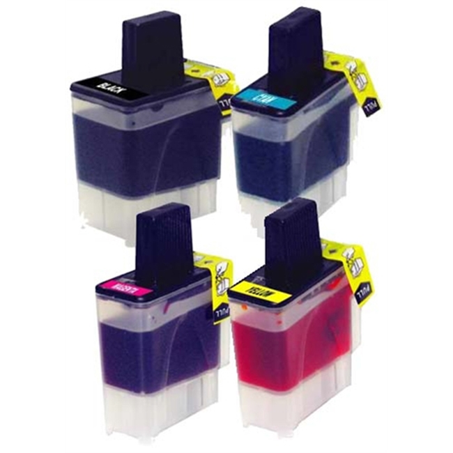 4 Pack Brother LC41 IntelliFax 1840C, 1940CN, 2440C, MFC-210C, MFC-215C Inkjet Cartridges