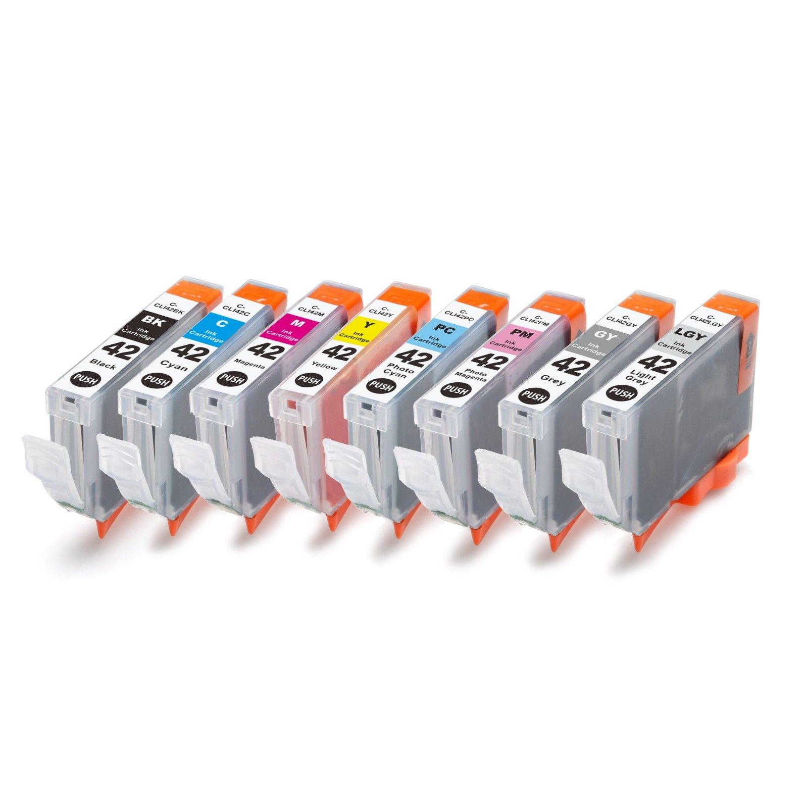 8 Pack Canon CLI-42 Pixma Pro-100 Ink Cartridges