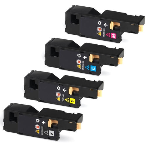 4 Pack Xerox  Phaser 6000, 6010, WorkCentre 6015 Compatible Toner Cartridges