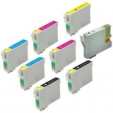Epson T054 set  8 colors  Inkjet Cartridge Stylus Photo R800- R1800.
