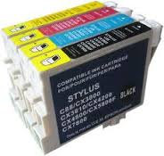 Epson T060 Combo set of 4 colors Inkjet Cartridge  C68- C88- D68- D88- CX3800- CX3810- CX4200- CX4800- CX5800F- CX7800- DX3800- DX4800.